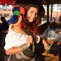Pirate wench with a parrot