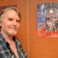 Our Guest of Honor, Ian Gibson, at Liburnicon 2014. posing with his artwork