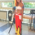 The winner of cosplay 2011... but on this picture she doesn't know it yet :)